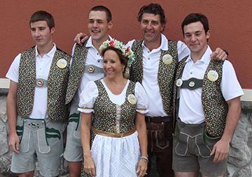 The Muzyl Family Celebrating Alpenfest