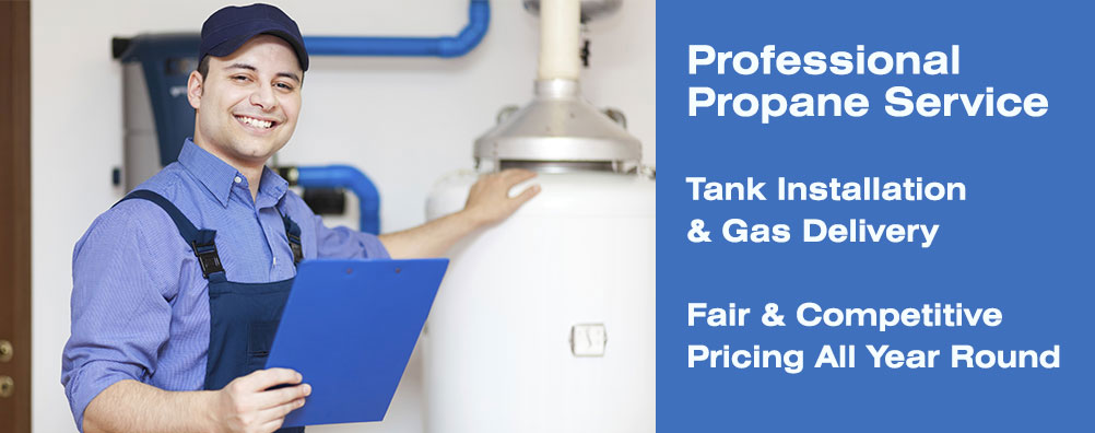 Propane supplied for all your Gas Water heaters, GasRanges, Gas Dryers needs